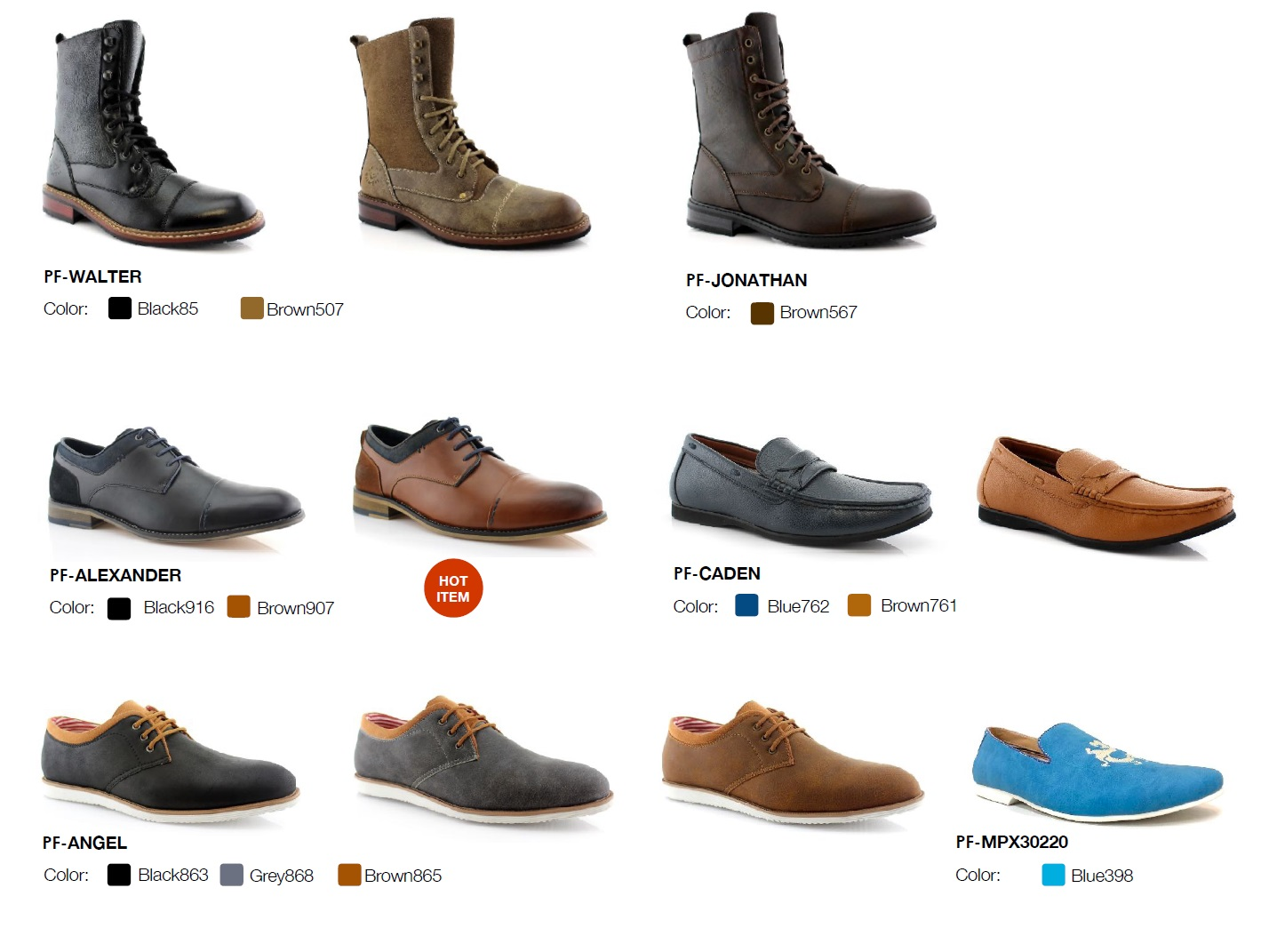 Nantlis Vol 43 Zapatos para Hombres Mayoreo Wholesale men shoes Catalogo Polar Fox Footwear_Page_11
