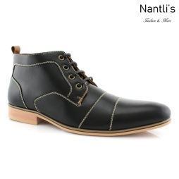 Zapatos para Hombre FA-HUGH Black Mayoreo Wholesale Men's Fashion Shoes Chukka Boots Nantlis
