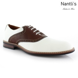 Zapatos para Hombre FA-JORDAN White-Brown Mayoreo Wholesale Men's Fashion Shoes Nantlis