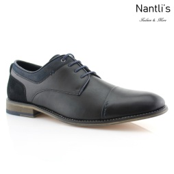 Zapatos para Hombre PF-ALEXANDER Black Mayoreo Wholesale Men's Fashion Shoes Nantlis