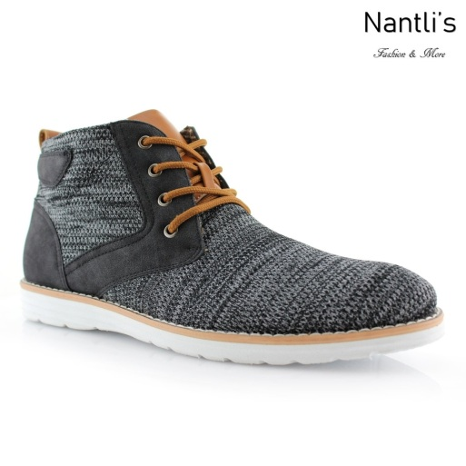 Zapatos para Hombre PF-BOHORT Black Mayoreo Wholesale Men's Fashion Shoes Hi-top sneakers Nantlis
