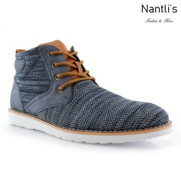 Zapatos para Hombre PF-BOHORT Blue Mayoreo Wholesale Men's Fashion Shoes Hi-top sneakers Nantlis