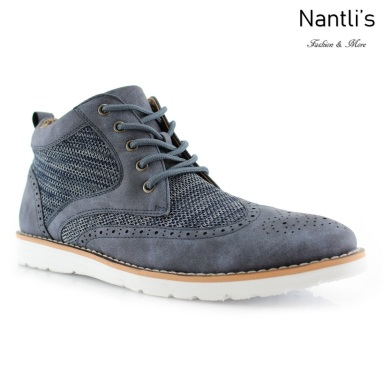 Zapatos para Hombre PF-COLBERT Blue Mayoreo Wholesale Men's Fashion Shoes Hi-top sneakers Nantlis