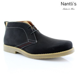 Zapatos para Hombre PF-ELLIOT Black Mayoreo Wholesale Men's Fashion Shoes Chukka Boots Nantlis
