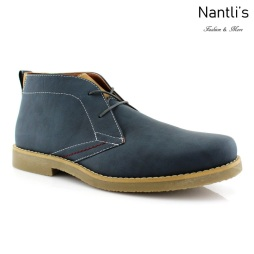 Zapatos para Hombre PF-ELLIOT Blue Mayoreo Wholesale Men's Fashion Shoes Chukka Boots Nantlis