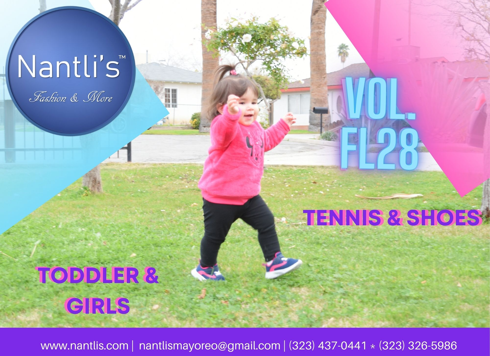 Catalogo Vol FL28 Tenis y Zapatos de ninas Mayoreo Wholesale girls shoes and tennis shoes for kids page 01