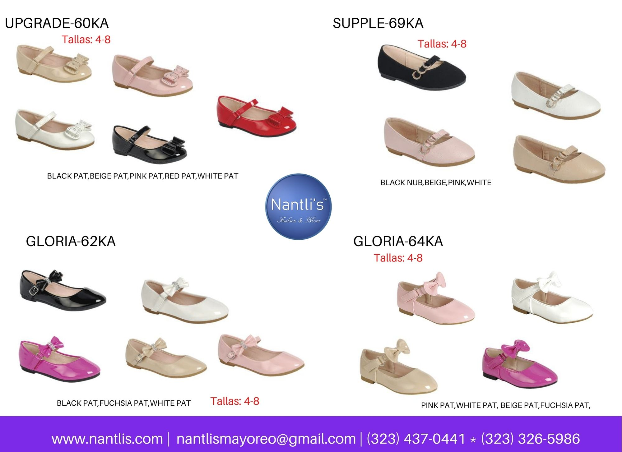 Catalogo Vol FL28 Tenis y Zapatos de ninas Mayoreo Wholesale girls shoes and tennis shoes for kids page 09