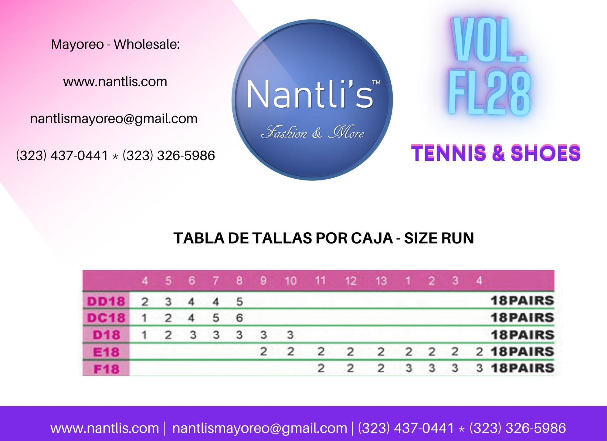 Catalogo Vol FL28 Tenis y Zapatos de ninas Mayoreo Wholesale girls shoes and tennis shoes for kids page 19