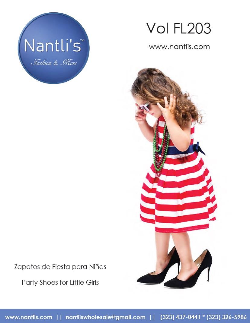Nantlis Vol FL203 Zapatos de Fiesta ninas mayoreo Catalogo Wholesale little girls party shoes_Page_01