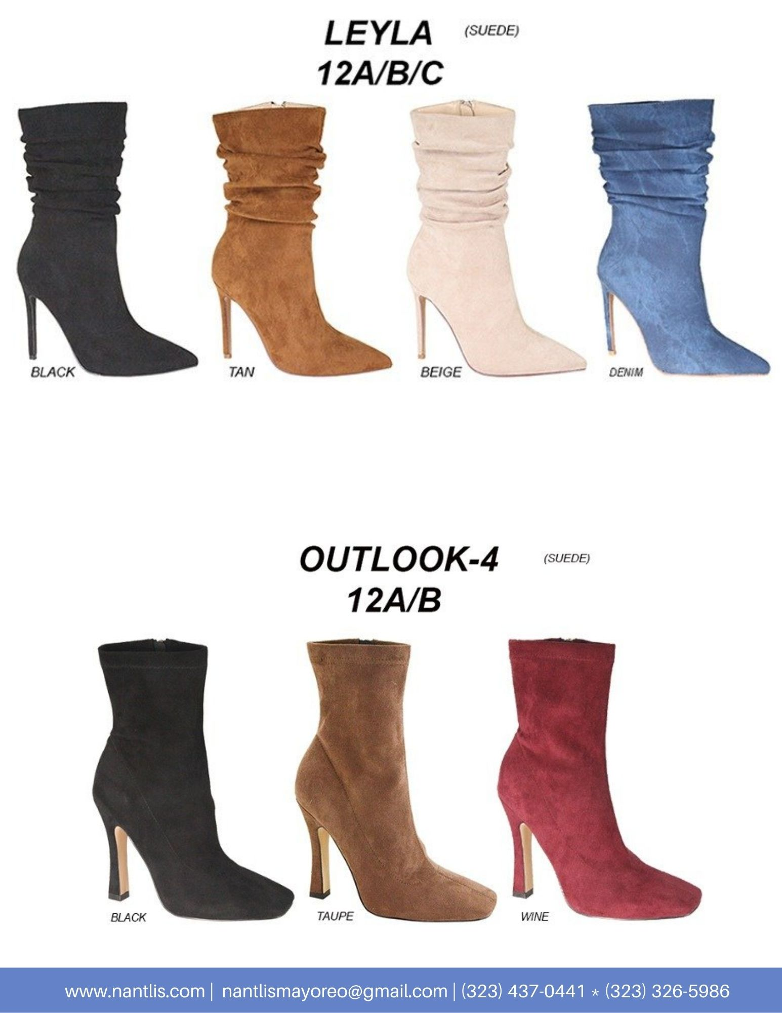 Nantlis Vol AN22 Botas Mujer mayoreo Catalogo Wholesale boots for women page 02