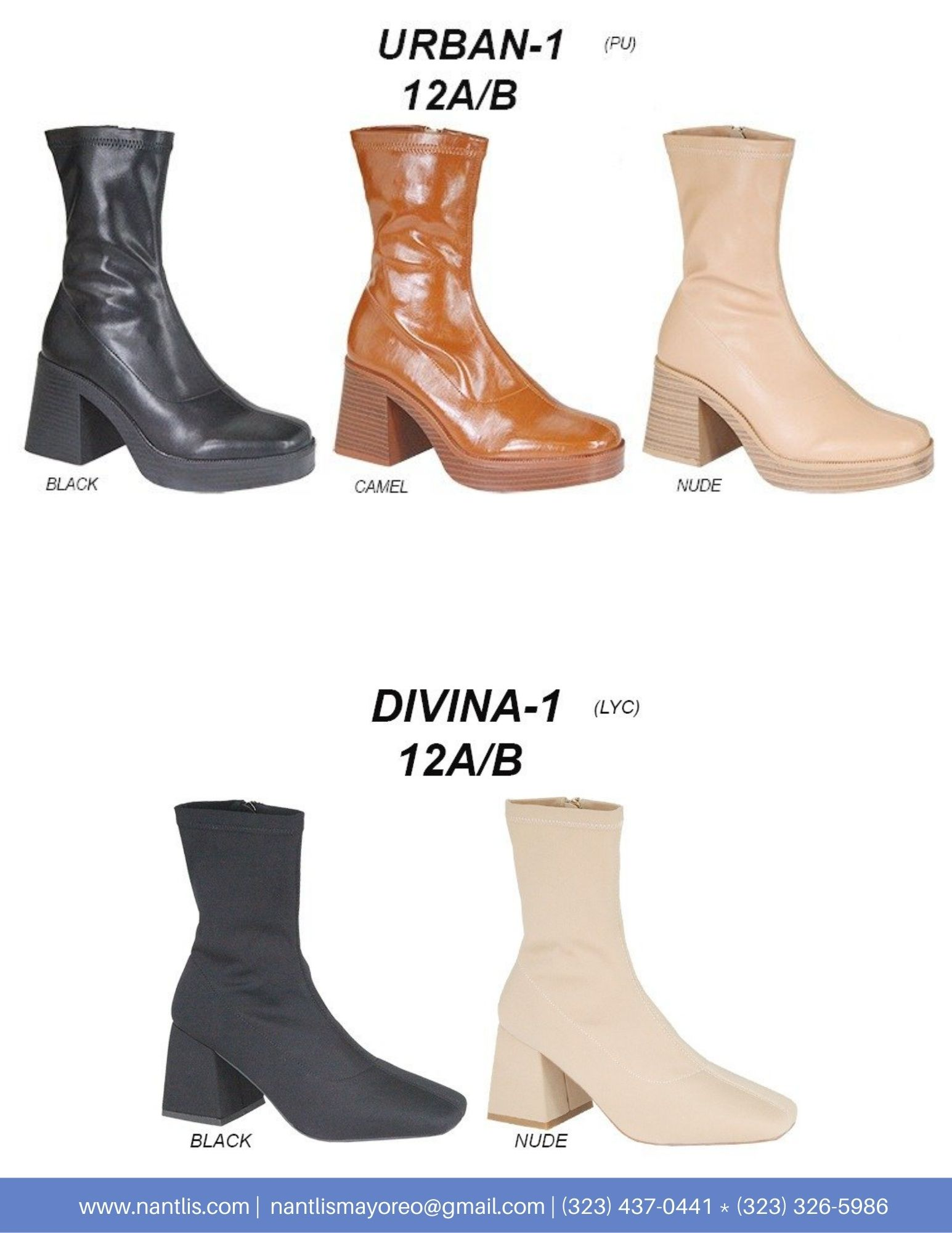 Nantlis Vol AN22 Botas Mujer mayoreo Catalogo Wholesale boots for women page 06